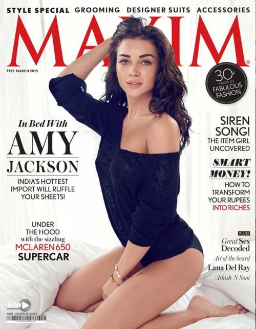 Amy Jackson Hot Bikini Photoshoot for Maxim India March 2015