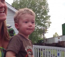REACTION OF LITTLE BOY AFTER SEEING ENGINEER DADDY DRIVING TRAIN CAUGHT GOES VIRAL