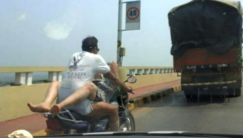 Sex Position on Bike leads to Fine in Goa