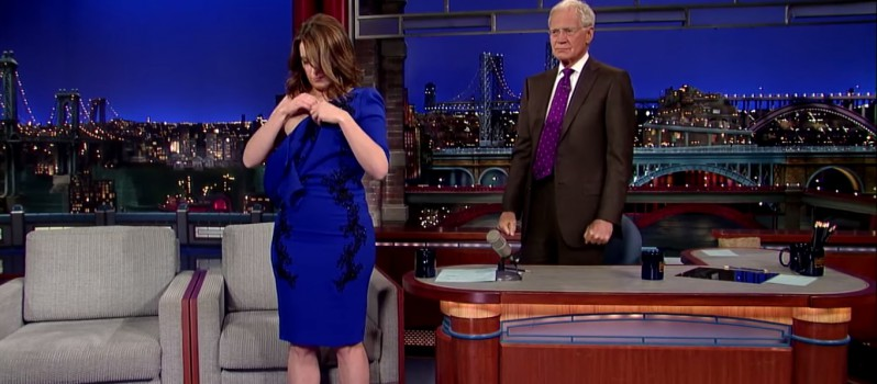 Tina Fey Strip for Late Show Host David Latterman