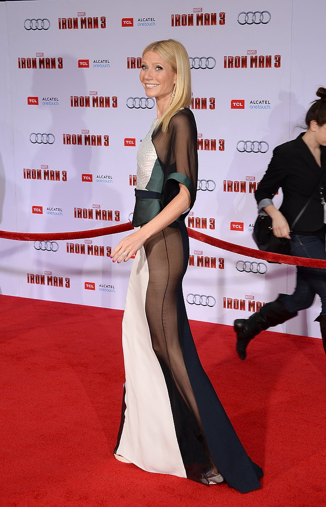 Gwyneth Paltrow at the Hollywood premiere of Iron Man 3