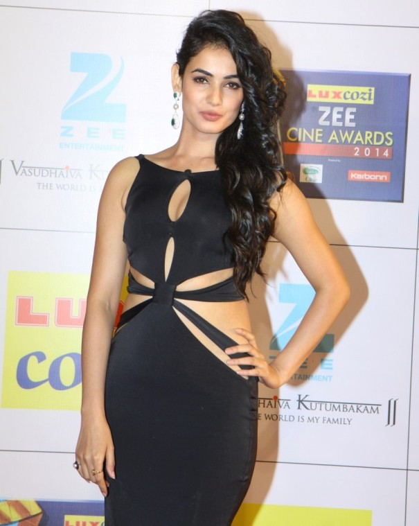 Indian Actress Sonal Chauhan backless cut-out style