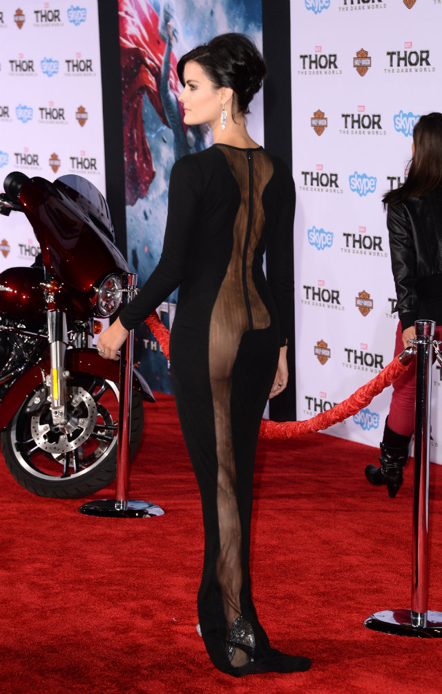 Jaimie Alexander at the premiere of Thor The Dark World