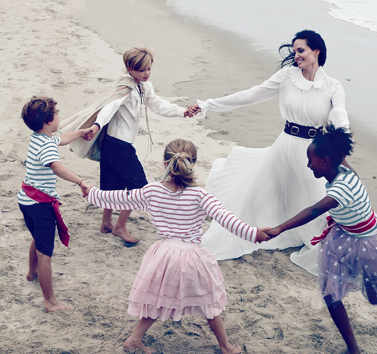 Angelina Jolie and family together for Vogue
