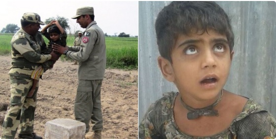 BSF hands over 5 years old deaf and mute Pakistani girl to Pak Rangers