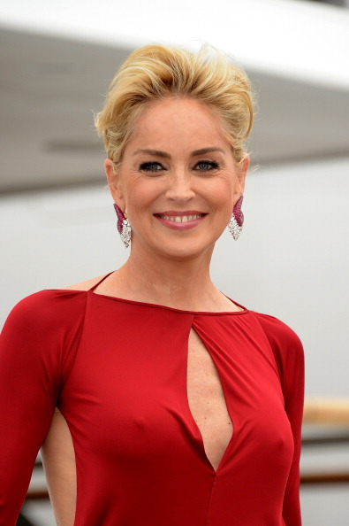CANNES, FRANCE - MAY 22: Sharon Stone is seen on day 9 of the 67th Annual Cannes Film Festival on May 22, 2014 in Cannes, France. (Photo by Luca Teuchmann/GC Images)