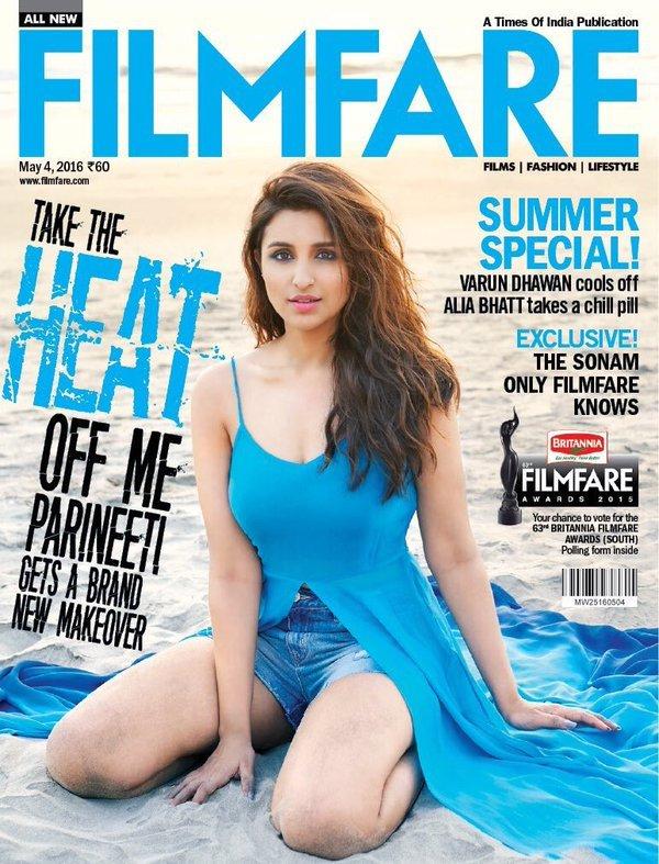 Parineeti Chopra Hot Summer Photoshoot for Filmfare Magazine