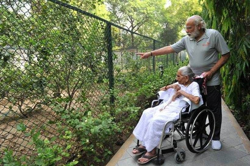 Indian PM Modi with his mother first time at 7RCR home