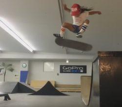 8 years old amazing skateboarder girl