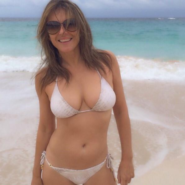 50 Years Old Stunning Elizabeth Hurley in Bikini