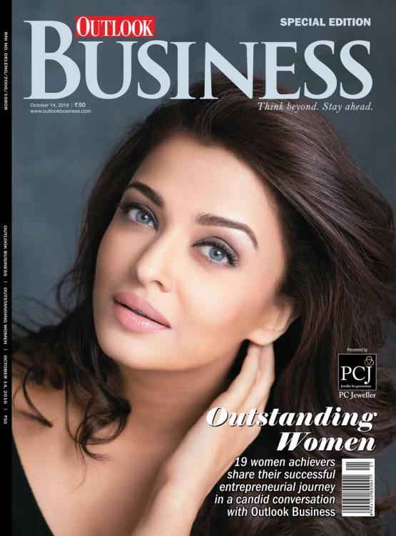 Beautiful Aishwarya Rai Bachchan on the cover of Outlook Business