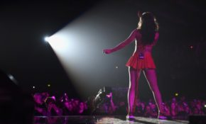 British singer Charli XCX looks hot in Halloween costume