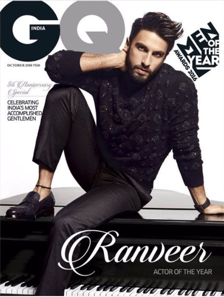 Ranveer Singh on cover of GQ magazine October 2016