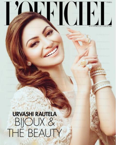 Urvashi Rautela on cover page of LOfficiel paris