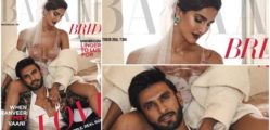 Vaani Kapoor and Ranveer Singh on the cover of October version of Harper's Bazaar Magazine