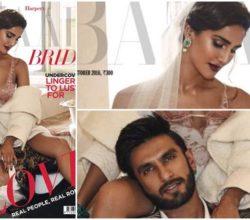 Vaani Kapoor and Ranveer Singh on the cover of October version of Harper's Bazaar Magazine