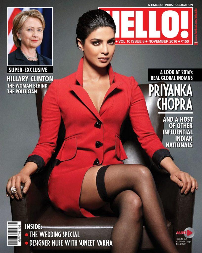 Priyanka Chopra is on Hello India Magazine Cover Page