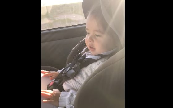 A video of toddler waiting for the beat to drop has gone viral